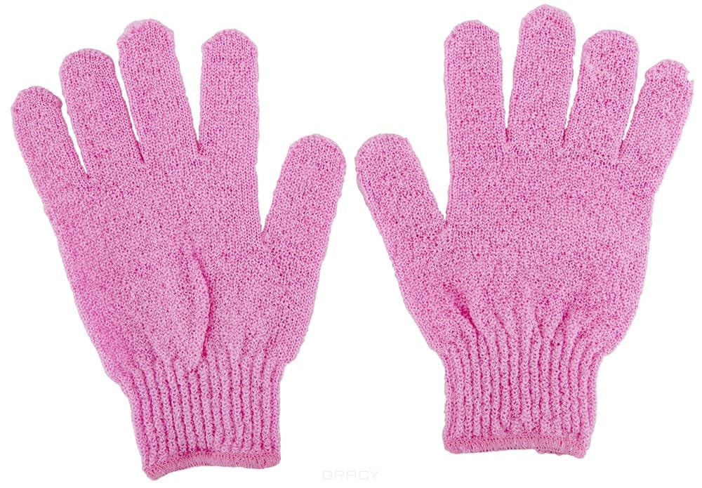 мочалки Мочалка для тела массажная перчатка нейлон (пара)
