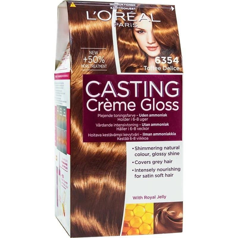 LOreal, Краска для волос Casting Creme Gloss (37 оттенков), 254 мл 6.354 Карамельный маккиатоОкрашивание<br><br>