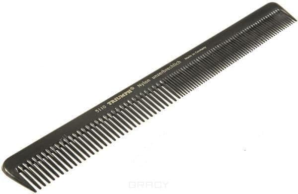 Расчёска нейлоновая скошенная с редкими и частыми зубчиками 5, 5110-7 цена 2017