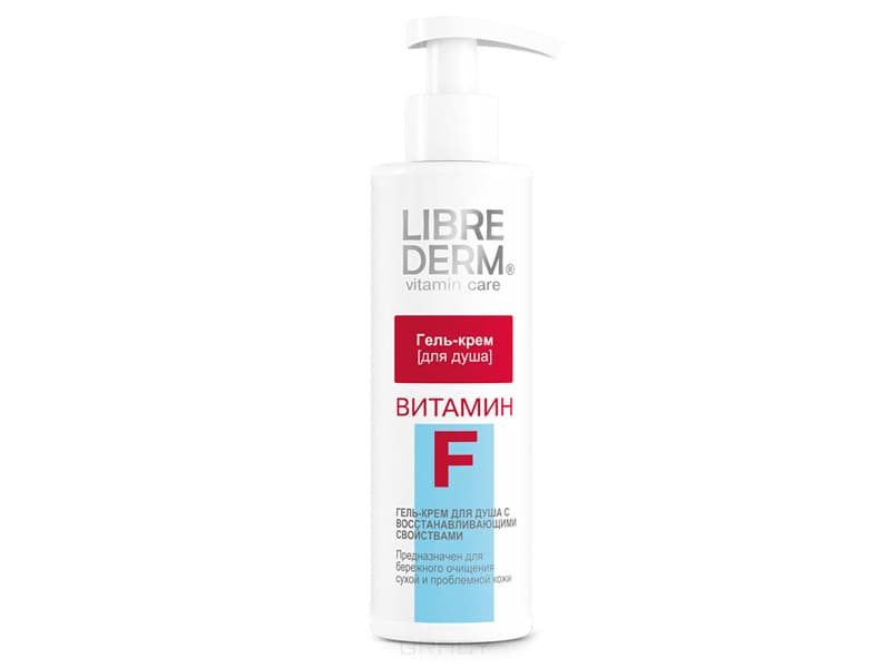 Librederm, Гель-крем для душа Витамин F, 250 мл l occitane гель для душа cedrat 250 мл