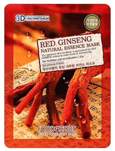 Natural Essence Mask Red Ginseng Тканевая маска для лица 3D с экстрактом красного женьшеня, 23 мл lebelage egg natural mask тканевая маска для лица с экстрактом яйца 23 мл