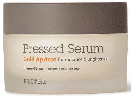 Blithe, Сыворотка-крем спрессованная Золотой абрикос для лица для сияния Pressed Serum Gold Apricot, 50 мл blithe сыворотка спрессованная увлажняющая хрустальный лед 50 мл