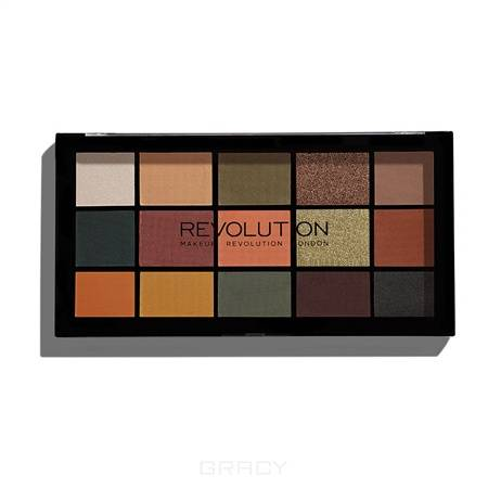 цена на MakeUp Revolution, Палетка теней для век Re-loaded Palette, 15 оттенков (6 вариантов) Iconic Division