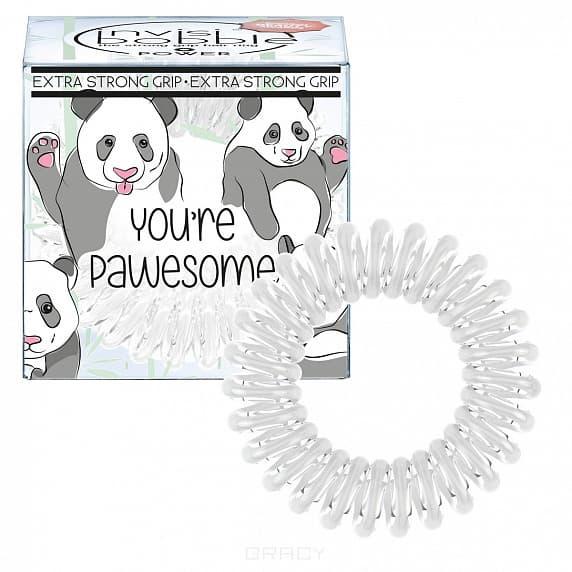 Invisibobble, Резинка для волос молочного цвета Power You're Pawesome! (3 шт.)Зажимы, шпильки, резинки<br><br>