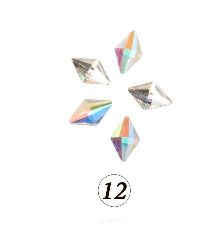 Купить Planet Nails, Цветные фигурные стразы в ассортименте (76 видов), 5 шт/уп Планет Нейлс №12