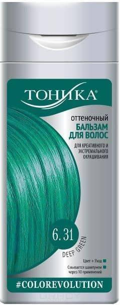 Тоника, Оттеночный бальзам 6.31 Deep Green, 150 мл