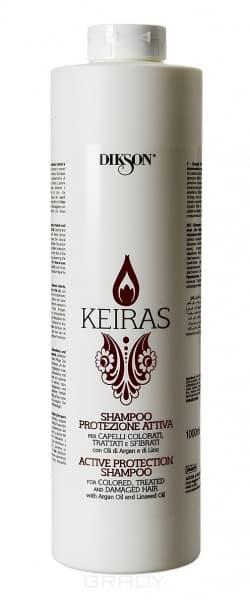 Dikson, Шампунь активная защита с маслом Арганы и экстрактом семени Льна Keiras Shampoo Protezione Attiva, 250 мл ratchet