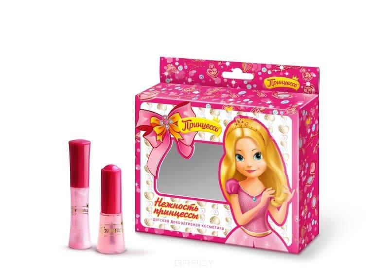 Принцесса, Набор №2 Нежность принцессы Блеск д/губ светло-роз + Лак детский д/ногтей 009 светло-роз, 5 мл + 8 мл детская косметика принцесса блеск для губ жемчужный 5 мл