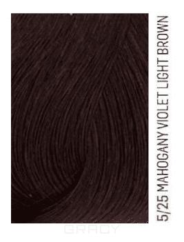 Lakme, Перманентная крем-краска для волос без аммиака Chroma, 60 мл (32 тона) 5/25 Светлый шатен фиолетово-махагоновый be hair be color 12 minute light chestnut mahogany краска для волос тон 5 5 светлый шатен махагоновый 100 мл