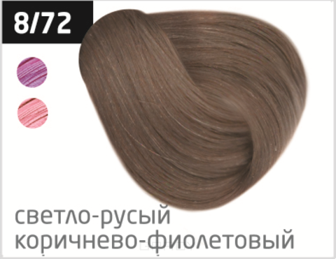 Купить OLLIN Professional, Безаммиачный стойкий краситель для волос с маслом виноградной косточки Silk Touch (42 оттенка) 8/72 светло-русый коричнево-фиолетовый