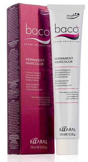 Купить Kaaral, Крем-краска для волос Baco Permament Haircolor, 100 мл (106 оттенков) 10.25 очень-очень светлый блондин фиолетово-махагоновый