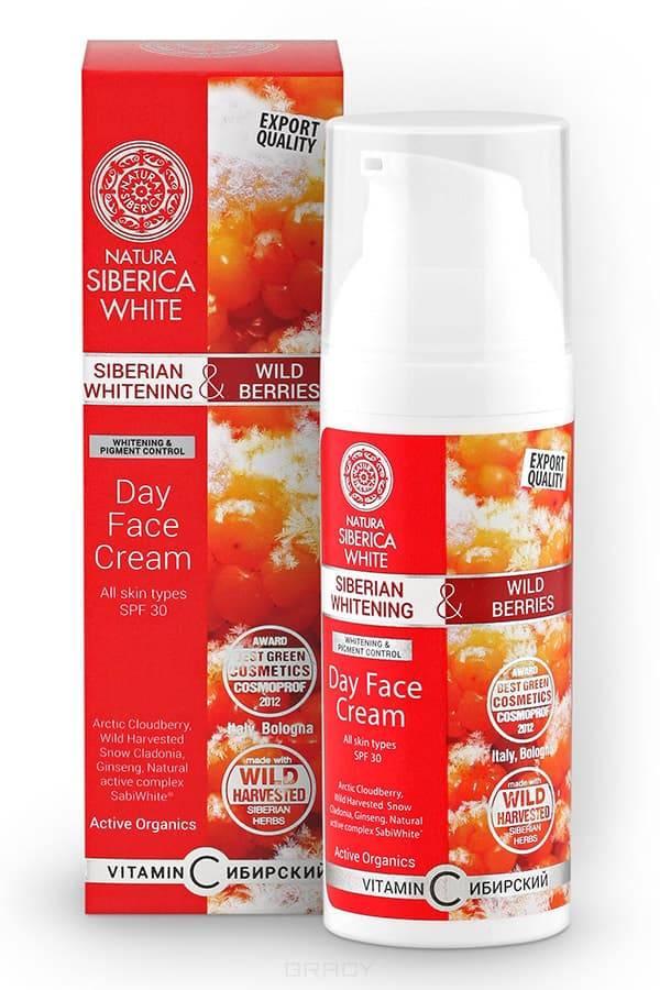 Отбеливающий дневной крем для лица White, 50 млЭФФЕКТИВНОСТЬ:&#13;<br> &#13;<br> Арктическая Морошка  содержит витамин С, который способствует отбеливанию кожи, обладает восстанавливающими и защитными  свойствами. Он стимулирует обменные процессы, замедляет старение и возвращает   коже эластичность.&#13;<br> &#13;<br> WH Кладония Снежная восстанавливает  тонус, питает, регулирует  обмен веществ, способствуя обновлению кожи.&#13;<br> &#13;<br> Сибирский Женьшень ускоряет обмен веществ , улучшая тон кожи, ускоряет микроциркуляцию крови, стимулирует процесс обновления, улучшает защитные свойства кожи и замедляет ее увядание.&#13;<br> &#13;<br> SabiWhite®- запатентованный натуральный  активный экстракт из корня куркумы, обладающий  подтвержденными осветляющими свойствами:&#13;<br>Визуально осветляет гиперпигментацию;&#13;<br>Осветляет/убирает веснушки, акне и прочие несовершенства кожи;&#13;<br>Заметно осветляет тон кожи;&#13;<br>Значительно улучшает эластичность кожи;&#13;<br>Глубоко питает кожу, придавая ей сияние и ровный тон&#13;<br> &#13;<br> Наносите на сухую кожу лица каждое утро.&#13;<br> &#13;<br> 0% Минеральных масел&#13;<br> 0% BHT/BHA&#13;<br> 0% Парабен...<br>