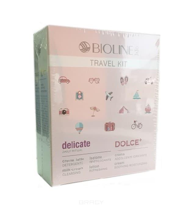 Bioline, Дорожный набор для чувствительной кожи Delicate, 30/99/99 мл набор bioline jato travel gift кit pure набор крем 30 мл гель 99 мл лосьон 99 мл