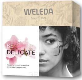 Купить Weleda, Подарочный набор «BE DELICATE»: Деликатный крем для душа 200 мл + Деликатный крем для рук 50 мл + Деликатный питательный крем 7 мл