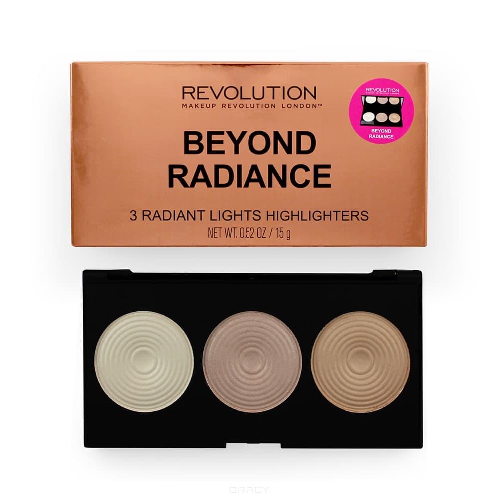 Купить MakeUp Revolution, Палетка хайлайтеров для лица Highlighter Palette, 12 гр (6 вариантов) Beyond Radiance