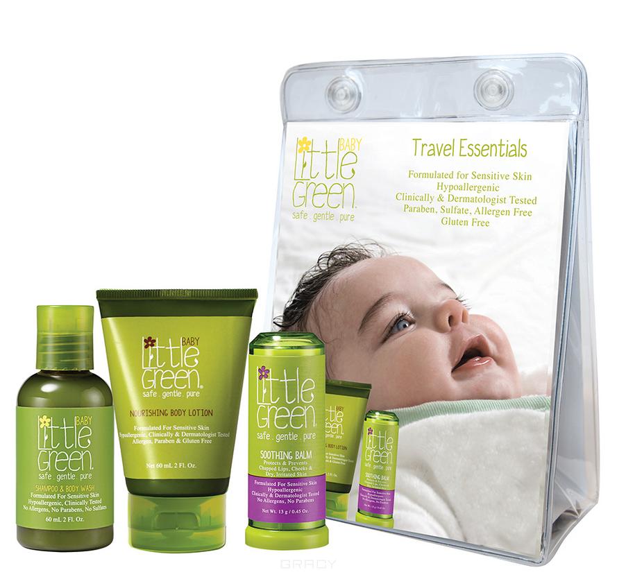 Купить Little Green, Набор Первый уход малыша (для малышей до 12 мес.) Baby Essentials Set (шампунь, лосьон для тела, карандаш для губ), 60/60/50 мл