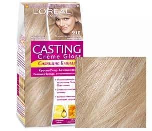 LOreal, Краска для волос Casting Creme Gloss (37 оттенков), 254 мл 910 Очень светло-русый пепельныйОкрашивание<br><br>