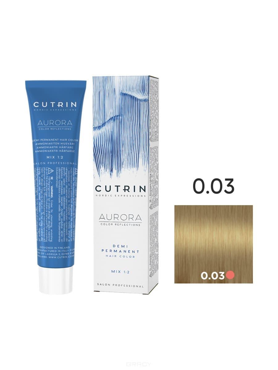 Купить Cutrin, Безаммиачная краска Aurora Demi (Новый дизайн Reflection Demi), 60 мл (55 оттенков) 0.03 золото