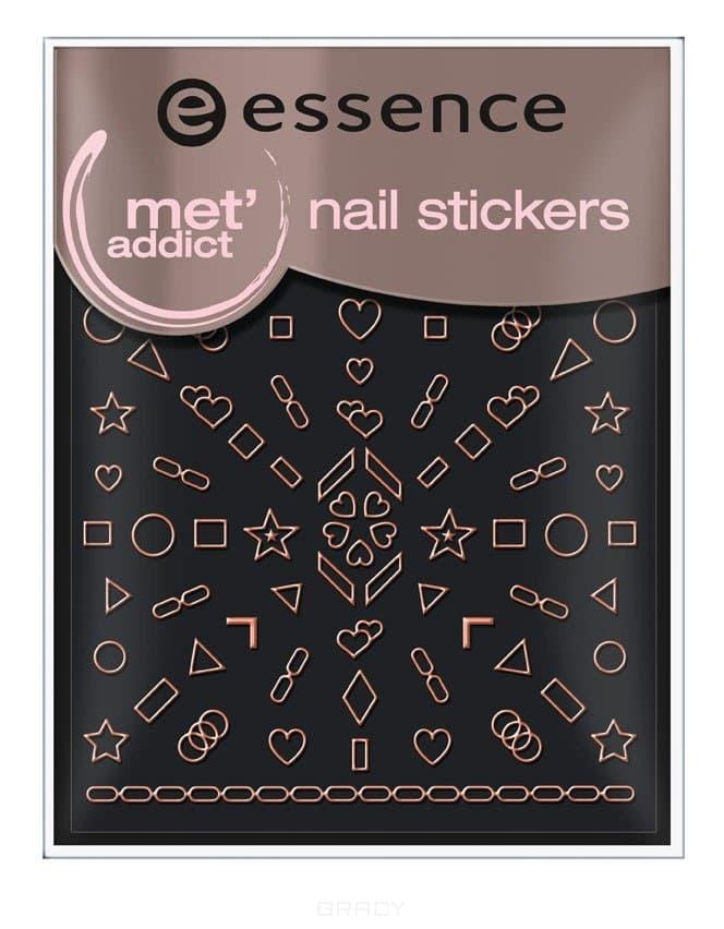 Essence, Наклейки для ногтей Золотистые фигуры Met'addict  - Купить