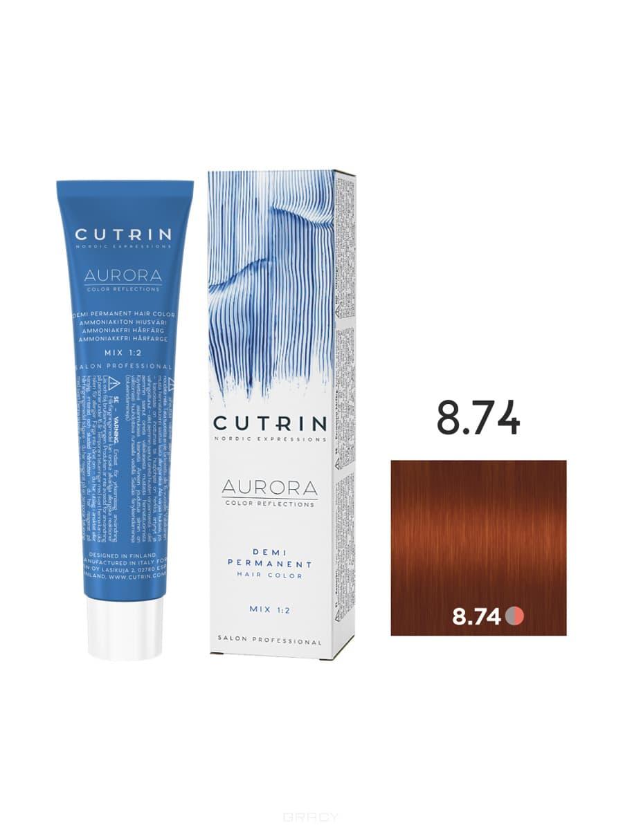 Купить Cutrin, Безаммиачная краска Aurora Demi (Новый дизайн Reflection Demi), 60 мл (55 оттенков) 8.74 Карамель