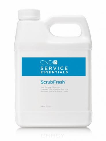 CND (Creative Nail Design), Лосьон очищающий для ногтей Scrub Fresh 222 мл, 946 мл cnd мономер cnd retention 2309 237 мл page 6