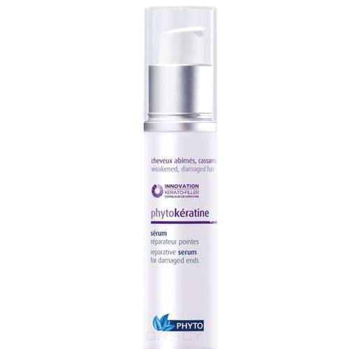 Купить Phytosolba, Фитокератин сыворотка восстанавливающая для кончиков волос, 30 мл