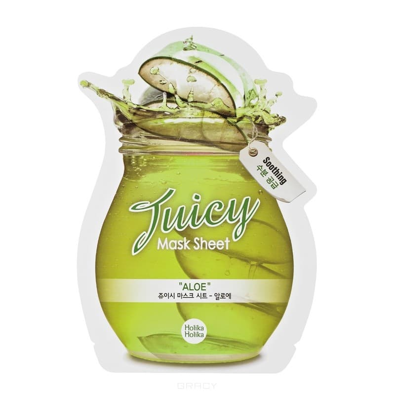 Holika Holika, Маска тканевая для лица Сок Алоэ Aloe Juicy Mask Sheet, 20 млМаски для лица<br><br>