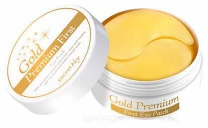 Купить Secret Key, Gold Premium First Eye Patch Патчи под глаза, 90 гр