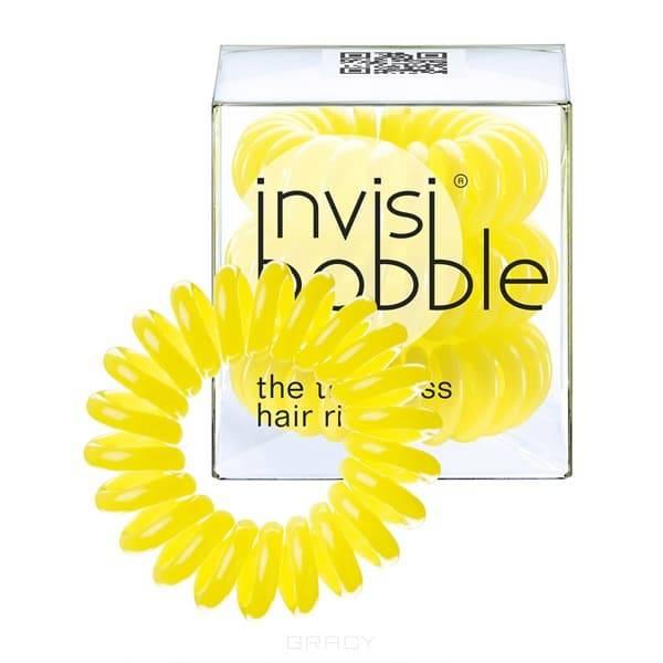 Резинка для волос желтая Submarine Yellow (3 шт.)Резинка-браслет Invisibobble   модный и стильный аксессуар, который всегда будет у вас под рукой. Invisibobble покорил многих девушек по всему миру своей функциональностью и яркостью палитры. С такой резинкой можно сделать множество интересных причесок и невозможно остаться незамеченной. &#13;<br>Резиночка Invisibobble устроена так, что не повреждает волосы Не оставляет следов перегиба на ваших волосах после применения Удобство использования при занятиях спортом или на отдыхе Резинка водоотталкивающая, легко снимается/надевается, в то же время крепко держит созданную прическу Восстанавливает свою изначальную форму Может использоваться как браслет Используя Invisibobble не возникнет ощущение головной боли, потому что она не тянет за собой отдельные волоски благодаря своей оригинальной форме.&#13;<br> &#13;<br>Подходит для всех типов волос<br>