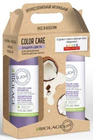 Matrix, Набор 2018 шампунь для окрашенных волос + Кондиционер Biolage R.A.W. Color Care, 325/325 мл matrix шампунь для окрашенных волос color care biolage r a w 1 л