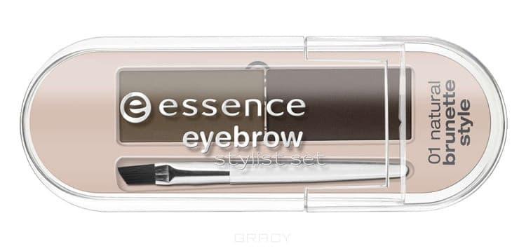 Тени для бровей Eyebrow Stylist Set т. 01 для брюнетокОписание:&#13;<br> &#13;<br> Этот набор поможет придать бровям правильную форму, скорректировать цвет, густоту волосков.&#13;<br> Небольшая прозрачная упаковка, оттенок светлый – для блондинок, в комплект входит скошенная небольшая кисть.&#13;<br> &#13;<br> Текстура: &#13;<br> &#13;<br> Пудрированные, хорошо пигментированные тени. В набор входят три трафарета для создания идеальной формы бровей.&#13;<br> &#13;<br> Способ нанесения: &#13;<br> &#13;<br> При помощи скошенной кисти наберите небольшое количество теней и подчеркните границы бровей. Внутреннее пространство заполните тенями и растушуйте кистью.<br>