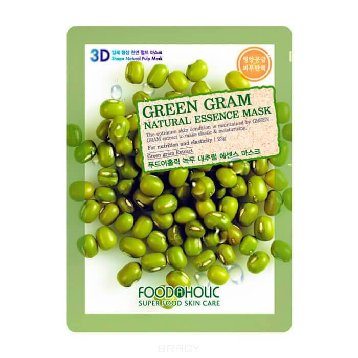 Тканевая 3D маска  экстрактом бобов Мунг Green Gram Natural Essence Mask, 23 мл