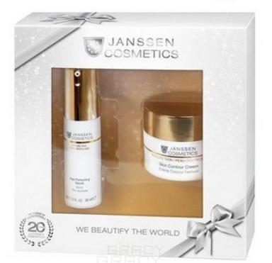 Janssen, Набор для лица Mature skin (лифтинг-крем, разглаживающая сыворотка, косметичка), 50/30 мл фото