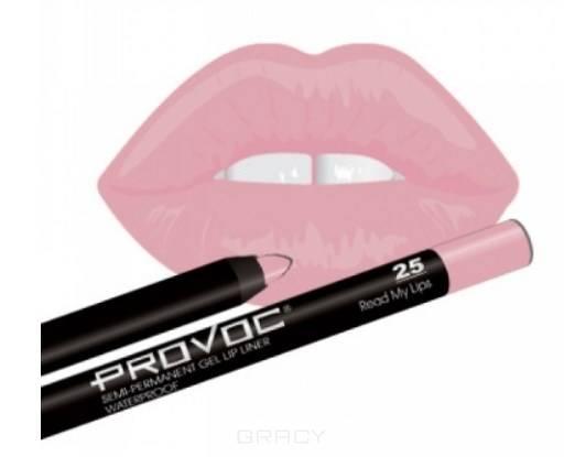 Provoc, Гелевая подводка в карандаше для губ Gel Lip Liner (12 тонов) 025 Read My Lips (цв. розово-бежевый) карандаш для губ provoc semi permanent gel lip liner 16 цвет 16 satin sheets variant hex name ff86c8