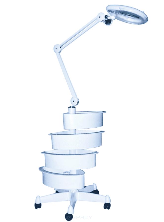 Planet Nails, Лампа-лупа Magnific 16 напольная 5 диоптрий с ящичкамиЛампы и лампы-лупы<br><br>