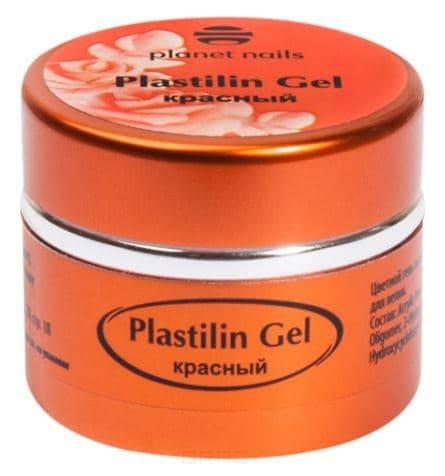 Planet Nails, Гель-пластилин Plastilin Gel Планет Нейлс (8 оттенков), 5 гр красный цена и фото