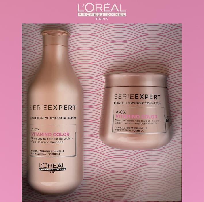L'Oreal Professionnel, Набор для окрашенных волос (шампунь + маска) Vitamino Color, 300/250 мл недорого