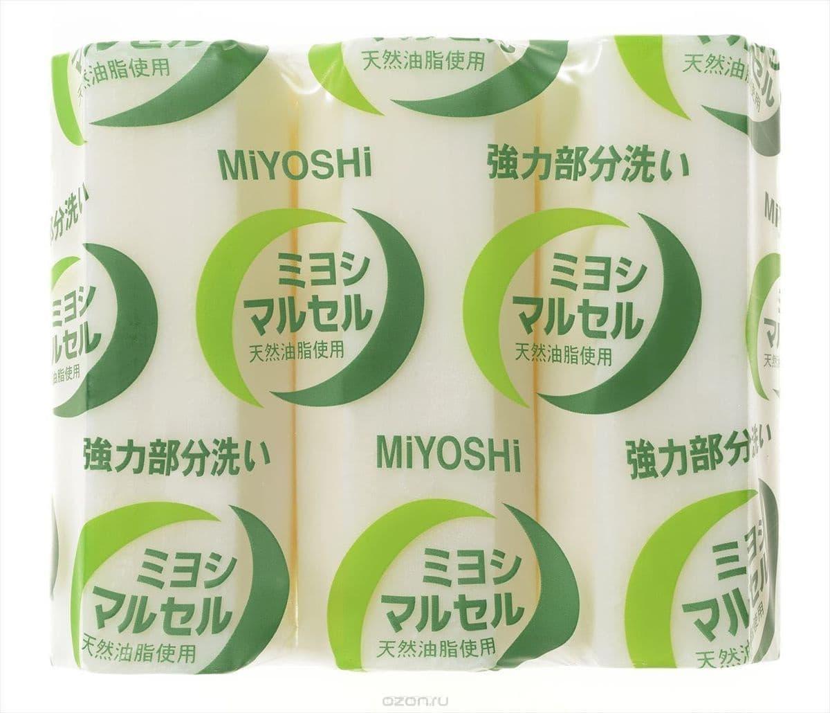 Miyoshi, Laundry Soap Maruseru Мыло для стирки точечного застирывания стойких загрязнений, 140 г*3 фото
