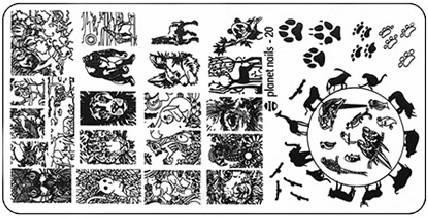 Planet Nails, Пластина для Stamping Nail Art (25 видов) - 20