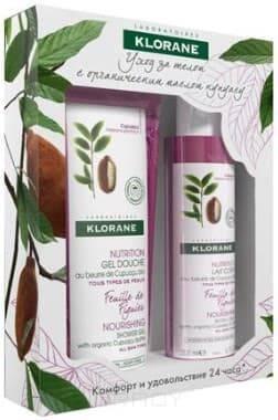 Купить Klorane, Набор Уход за телом Нежный Инжир : Гель для душа + Молочко для тела Body care, 200/200 мл