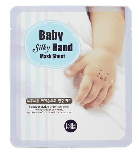 Holika Holika, Маска дл рук смгчаща Baby Silky Hand Mask Sheet, 18 мл*2Кремы дл рук<br><br>