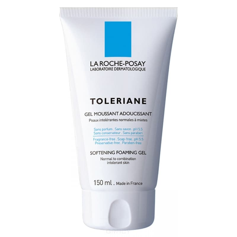 Смягчающий пенящийся гель Toleriane Gel, 150 млБережно снимает макияж и очищает кожу.&#13;<br>  &#13;<br>• Мгновенно смягчает и освежает.&#13;<br>  &#13;<br>&#13;<br>  &#13;<br>Смягчающий пенящийся гель для чрезвычайно чувствительной кожи нормального и комбинированного типа, на основе Термальной воды La Roche-Posay.&#13;<br>  &#13;<br> Бережно снимает макияж и очищает кожу/&#13;<br>  &#13;<br> Без парфюмерных отдушек, консервантов и мыла&#13;<br>  &#13;<br> pH 5,5.&#13;<br>  &#13;<br> Рекомендуется смешать гель с теплой водой в ладони, вспенить и нанести на лицо легкими массирующими движениями, избегая чувствительной области вокруг глаз. Затем тщательно смойте водой и аккуратно промокните лицо, не растирая кожу. &#13;<br>  &#13;<br> Только для наружного применения.&#13;<br>  &#13;<br>&#13;<br>  &#13;<br>Состав:&#13;<br>  &#13;<br>ЛАУРЕТ СУЛЬФАТ / SODIUM LAURETH SULFATE - детергент, поверхностно-активное вещество, действует бережнее лаурил сульфата, мягко очищает кожу.&#13;<br>  &#13;<br> КОКАМИДОПРОПИЛБЕТАИН / COCO-BETAINE   поверхностно-активное вещество, вырабатываемое из жирных кислот кокосового масла. Мягкий очиститель, предотвращающий изменение pH.&#13;<br>  &#13;<br> &#13;<br>  &#13;<br> AQUA / WATER&#13;<br>  &#13;<br> GLYCERIN&#13;...<br>