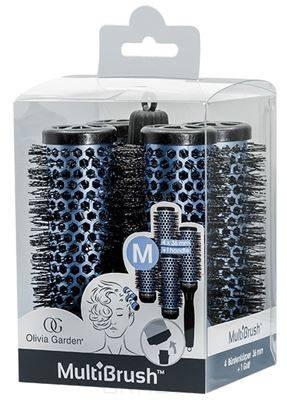 Купить Olivia Garden, Набор брашингов для укладки волос со съемной ручкой в комплекте размер M MultiBrush, 4 шт/уп