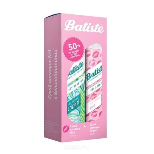 Купить Batiste, Набор Original сухой шампунь 200 мл + Nice сухой шампунь 200 мл Батист -50% на второй шампунь