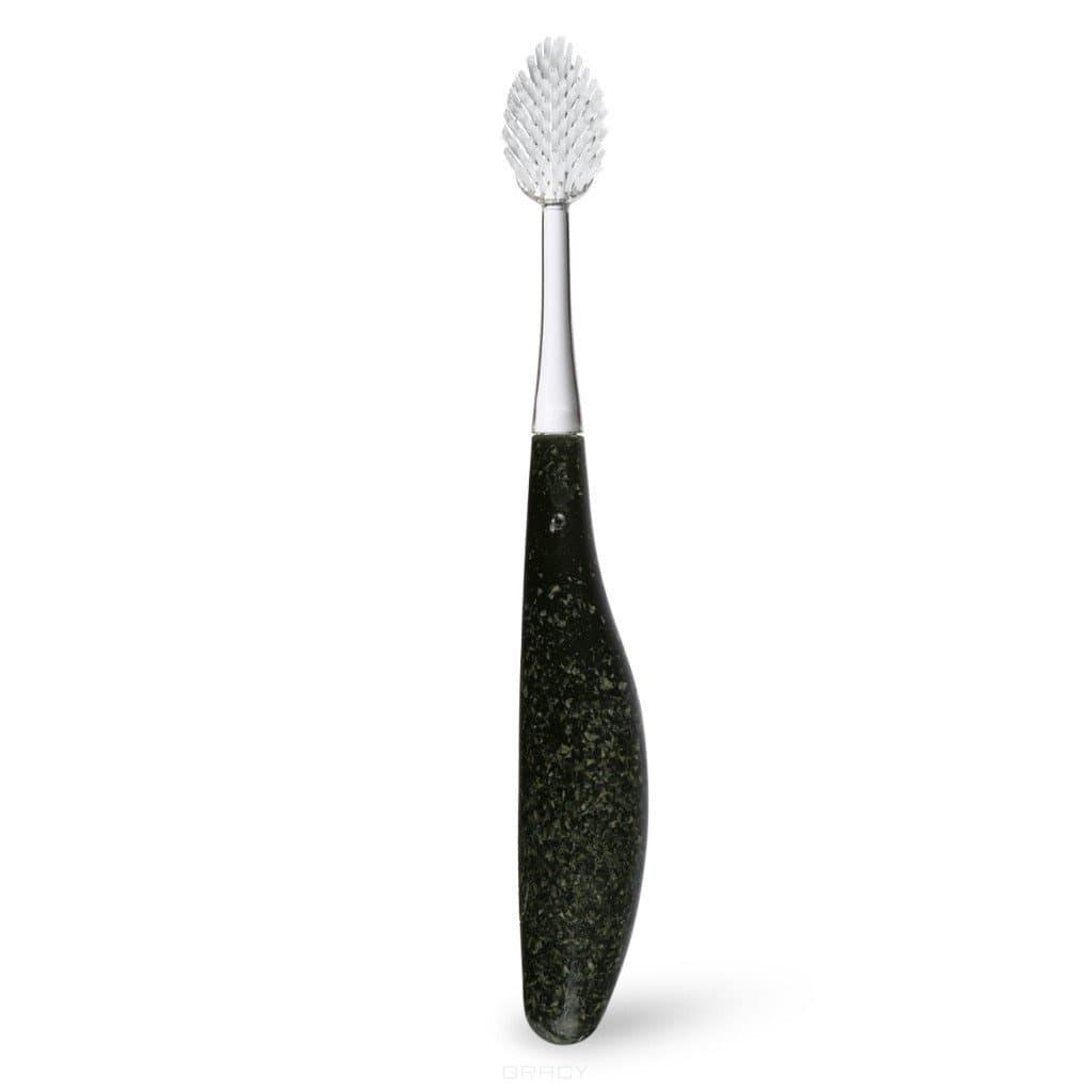 Radius, Щетка зубная с деревянной ручкой Toothbrush Source (мягкая/средняя) Темно-зеленая, мягкая perfct двойной уход покрытие языка шелковая десна мягкая мягкая зубная щетка × 2 цветная случайная f869