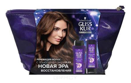 Schwarzkopf Professional, Набор Реновация волос (шампунь + бальзам + косметичка), 250/200 мл schwarzkopf professional набор реновация волос шампунь бальзам 250 200 мл