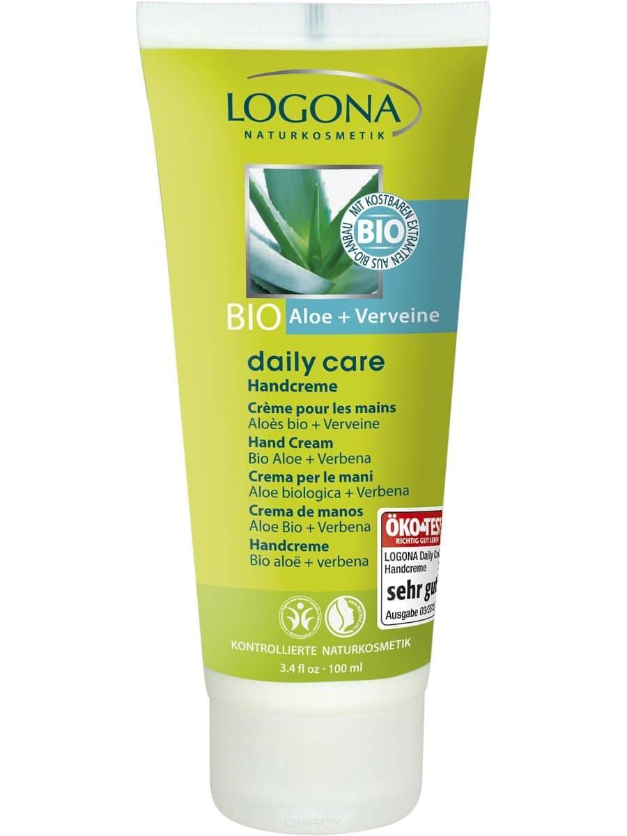 Logona, Крем для рук с Био-Алоэ и Вербеной Daily Care, 100 мл logona дезодорант с био алоэ и вербеной daily care 100 мл