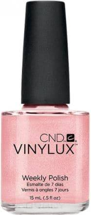 CND (Creative Nail Design), Винилюкс Профессиональный недельный лак VINYLUX™ Weekly Polish (54 оттенка) 15 мл # 118 (Grapefruit Sparkle) cnd vinylux цвет 153 tinted love