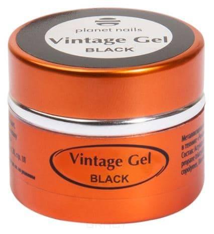 Купить Planet Nails, Гель-паста для чеканки Vintage Gel Планет Нейлс (6 оттенков), 5 гр black