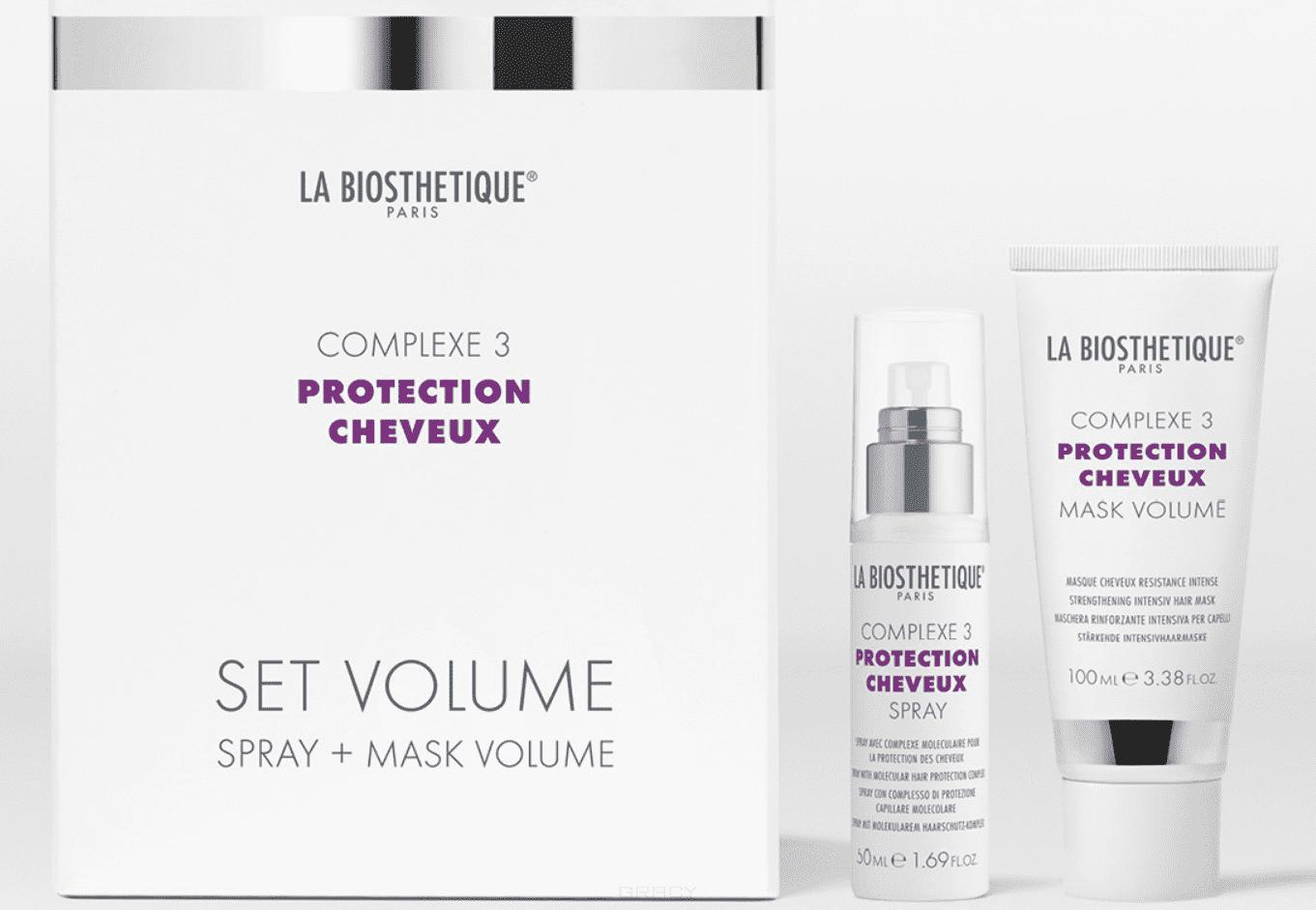La Biosthetique, Стабилизирующий дует с мощным молекулярным комплексом защиты волос Комплекс 3 Power Set Volume Complexe 3, 50/100 мл цена
